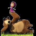 Маша и медведь. Раскраска