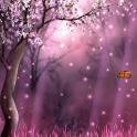 обои лес сакуры
